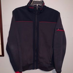tommy hilfiger jacket blue large spellout